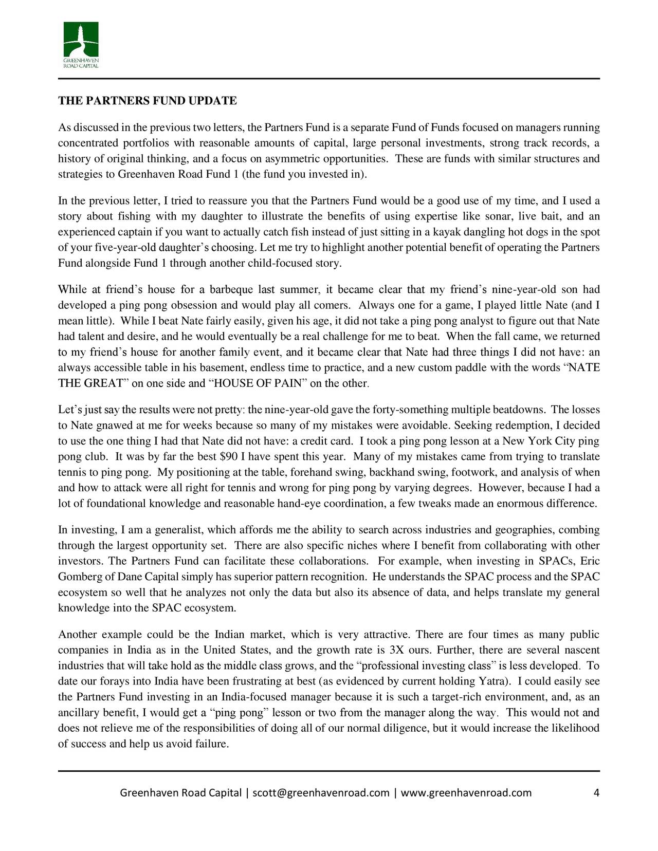 Greenhaven Road Capital Q4 2017 Investor Letter Fiat