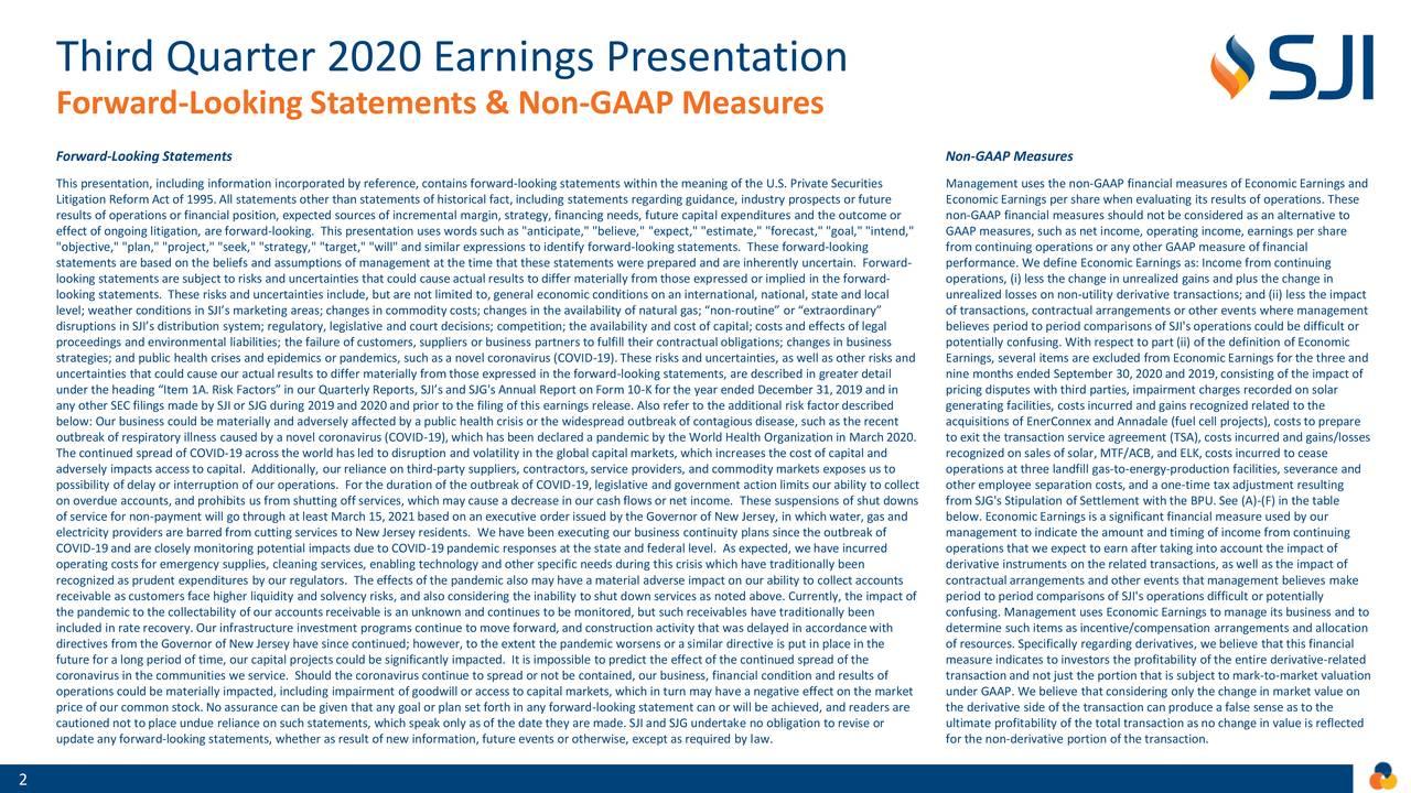 Presentación de resultados del tercer trimestre de 2020