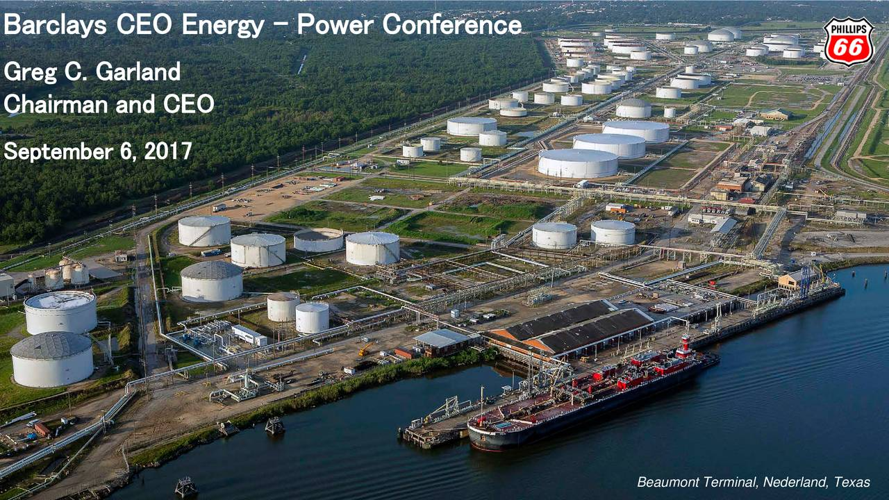 Phillips 66 Stock Quote Phillips 66 Psx Presents At Barclays Ceo Energypower Conference