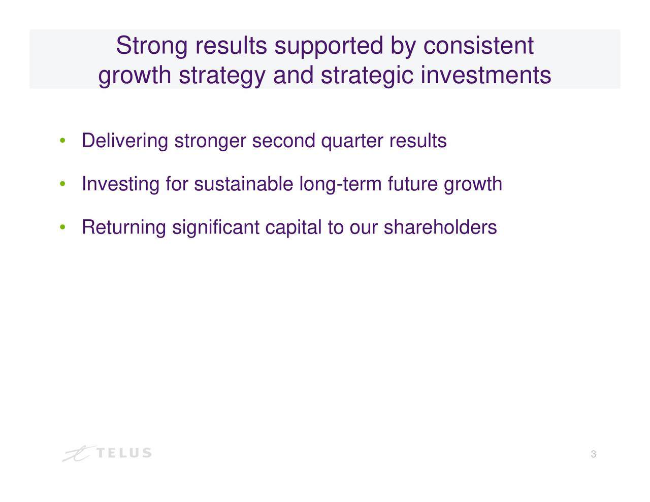 Strong results supported by consistent growth strategy and strategic investments Delivnriestetunnrngusiaiiabaluorap-reltotstrreh
