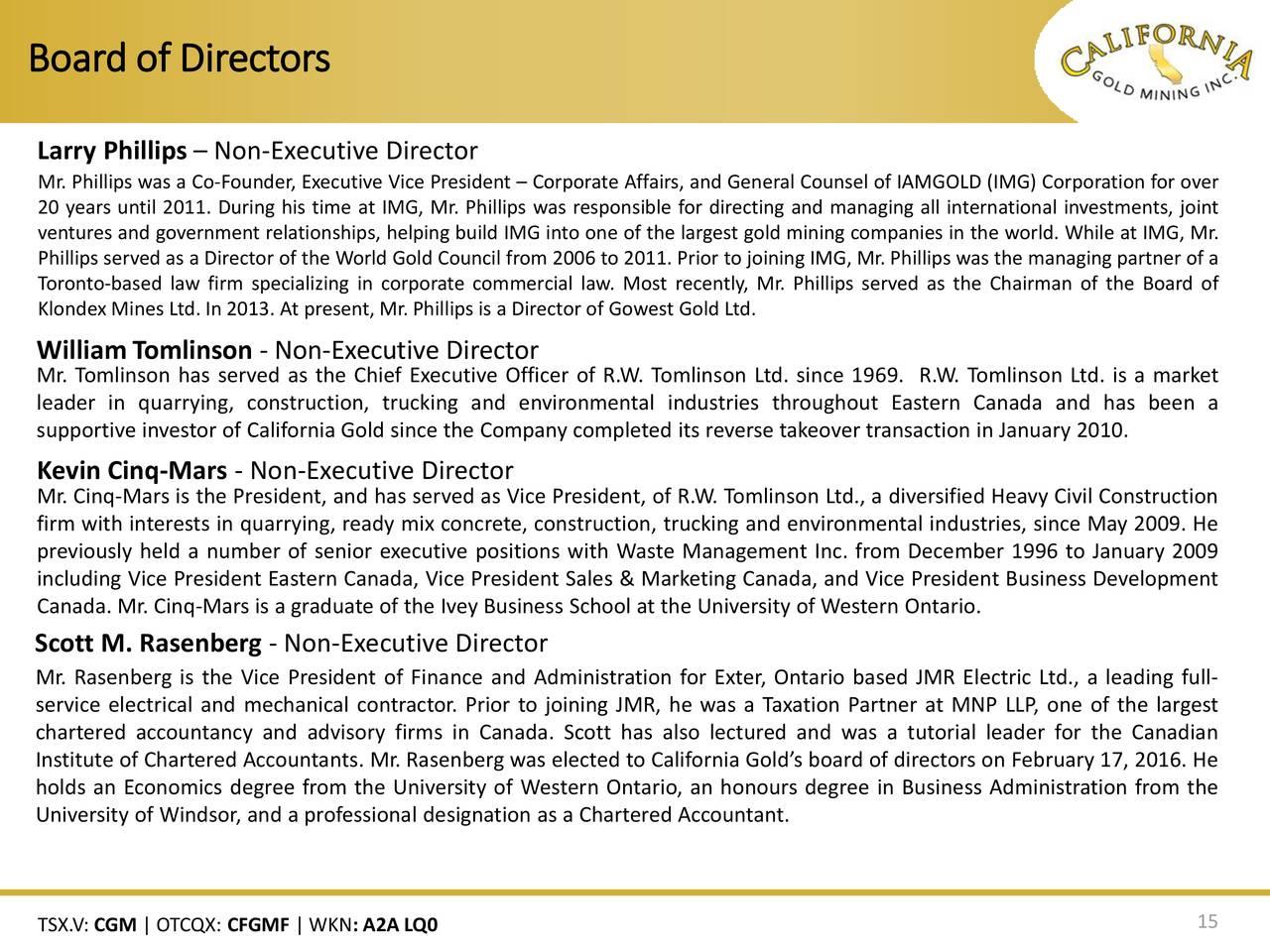 Alpha Natural Resources Board Of Directors