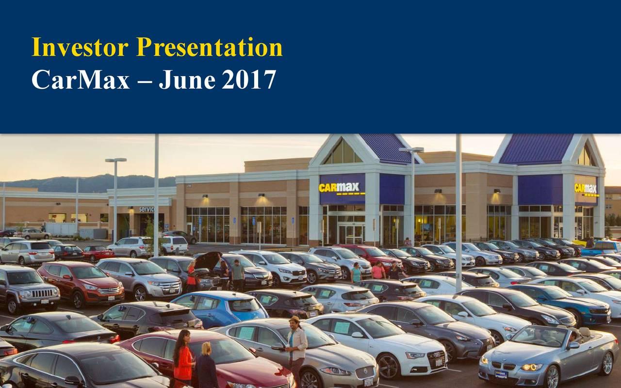 CarMax (KMX) Presents At 17th Annual Auto Finance Summit ...