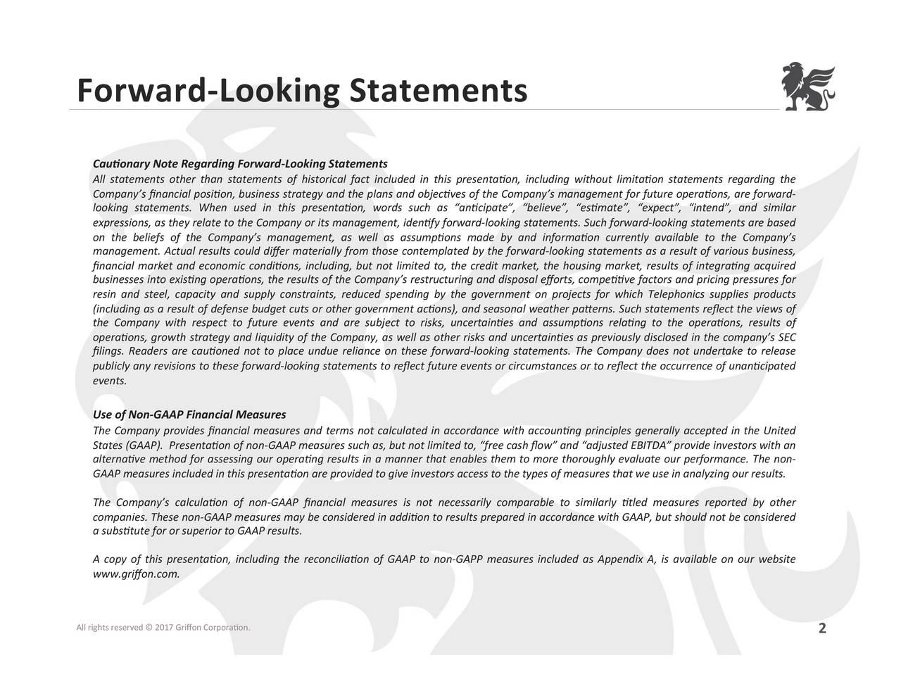 Cauonary Note Regarding Forward Looking Statements All Statements Other  Than Statements Of Historical Fact Included ...
