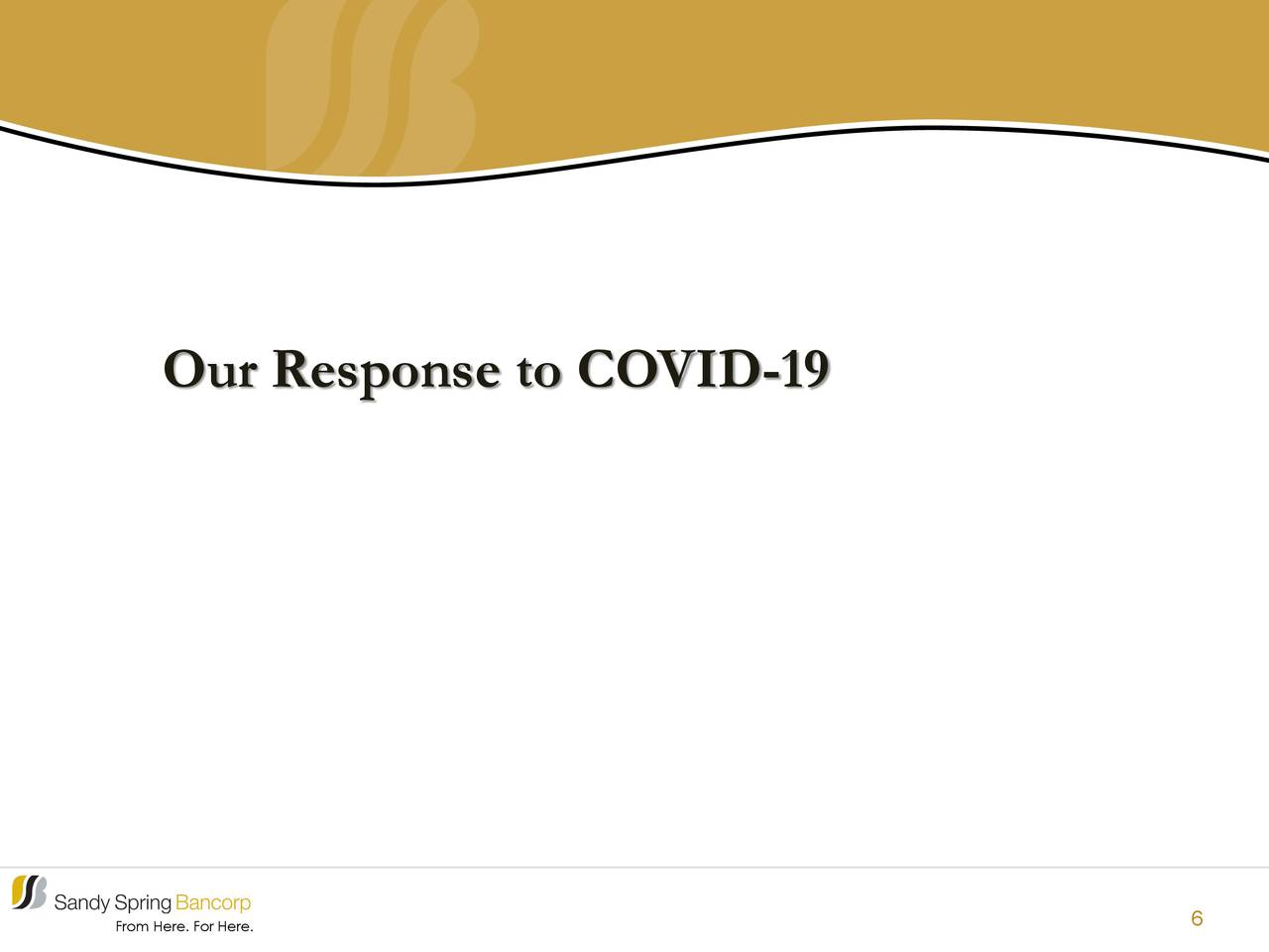 Nuestra respuesta a COVID-19
