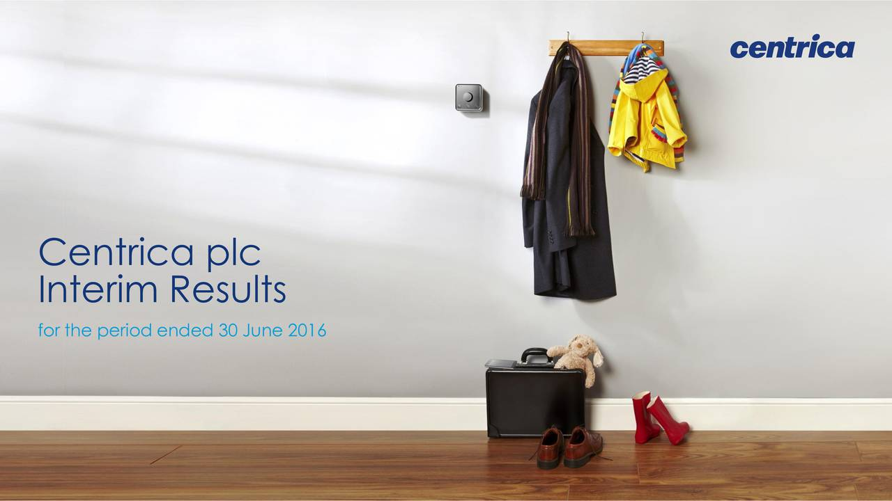 Interim Results for the period ended 30 June 2016