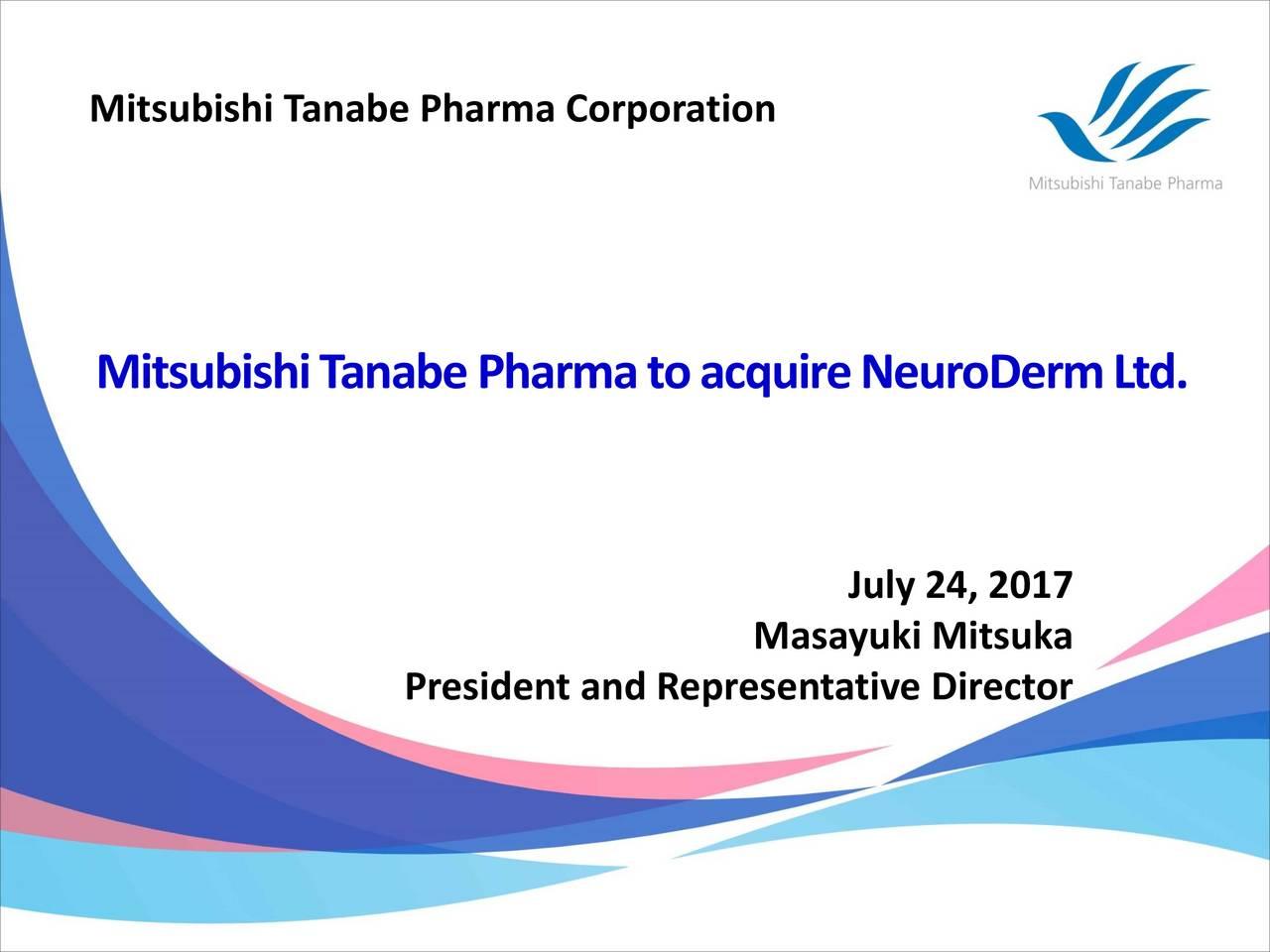 Mitsubishi Tanabe Pharma (MTZPY) Acquires NeuroDerm (NDRM) For $1 1B
