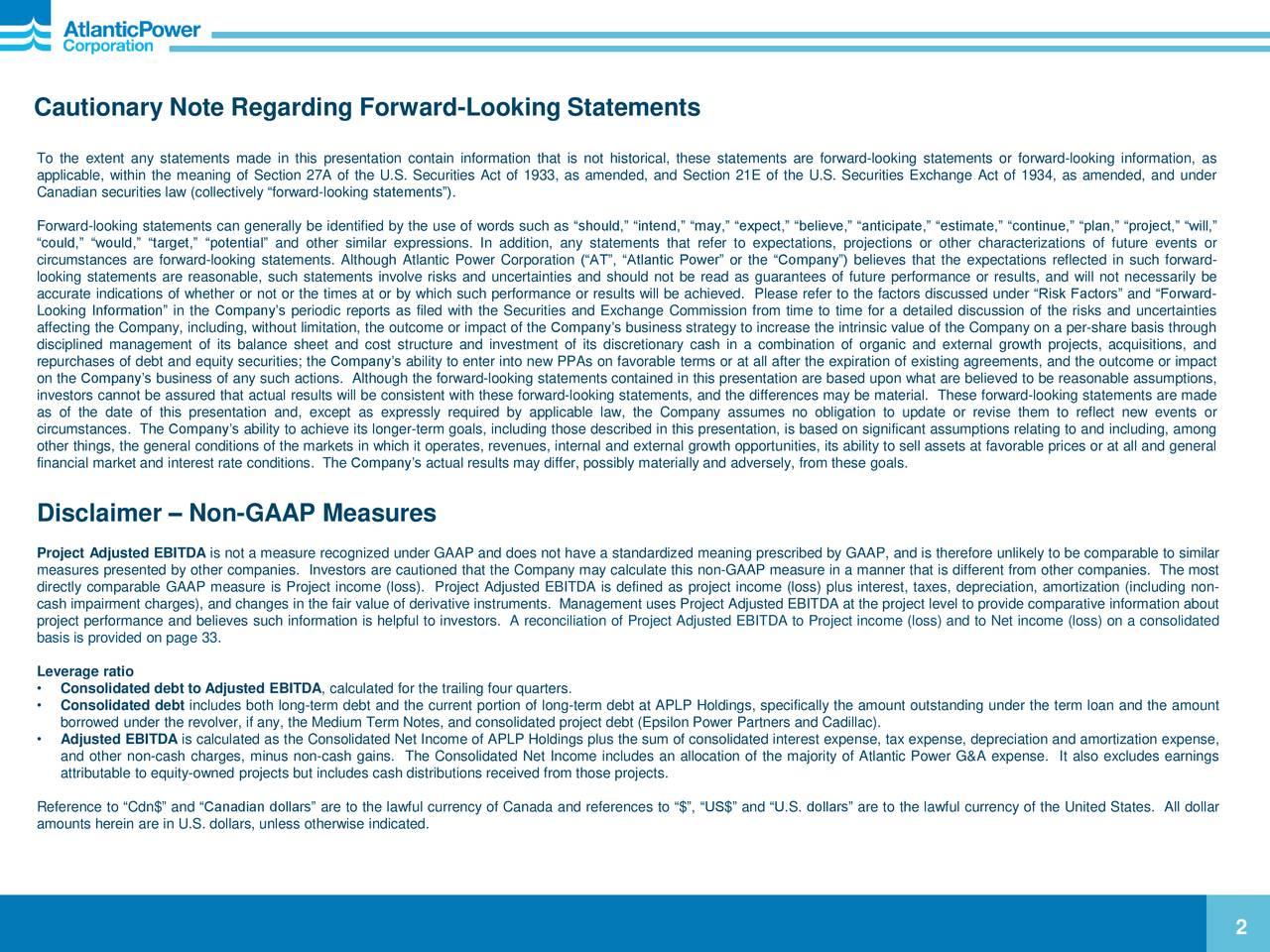 Cautionary Note Regarding Forward-Looking Statements