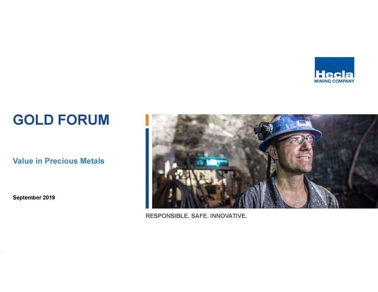 Hecla Mining (HL) Presents At Denver Gold Forum - Slideshow