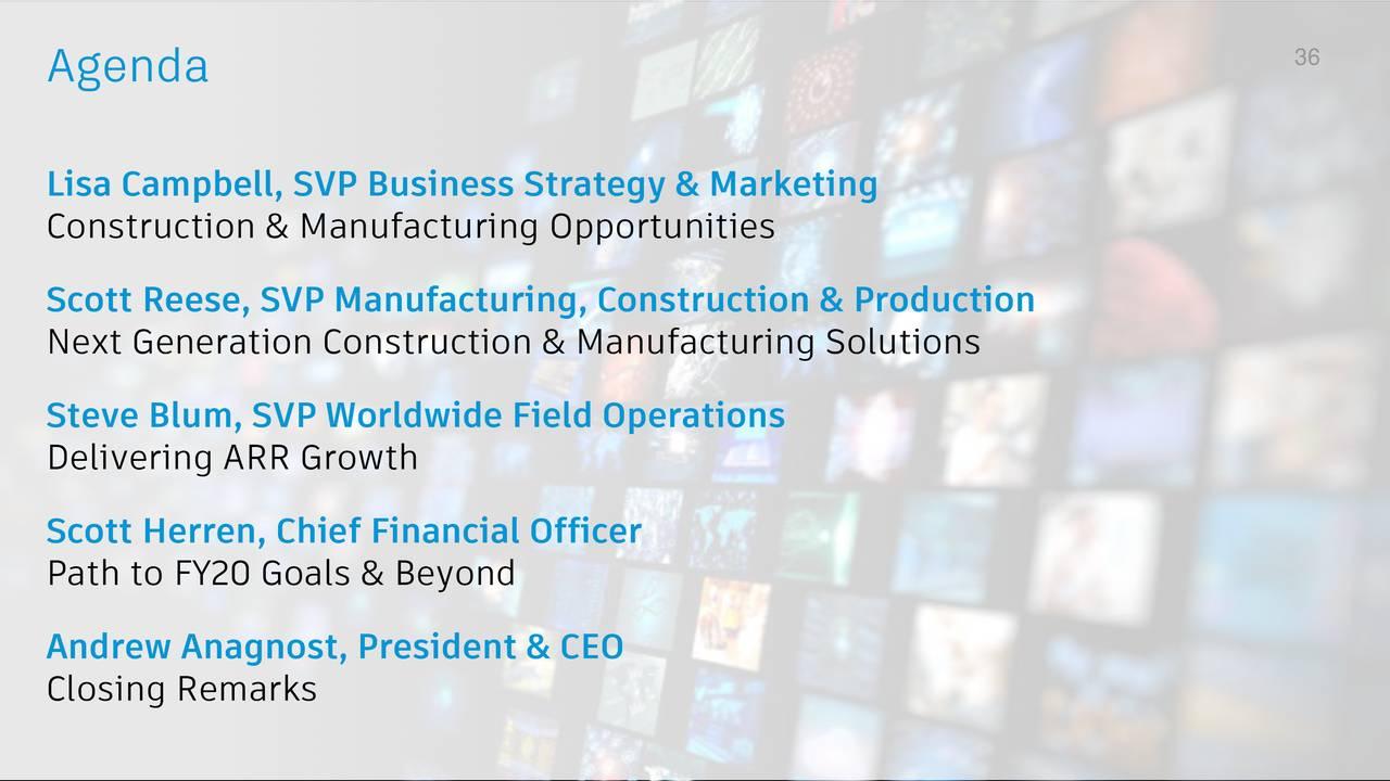 Autodesk Adsk Investor Presentation Slideshow