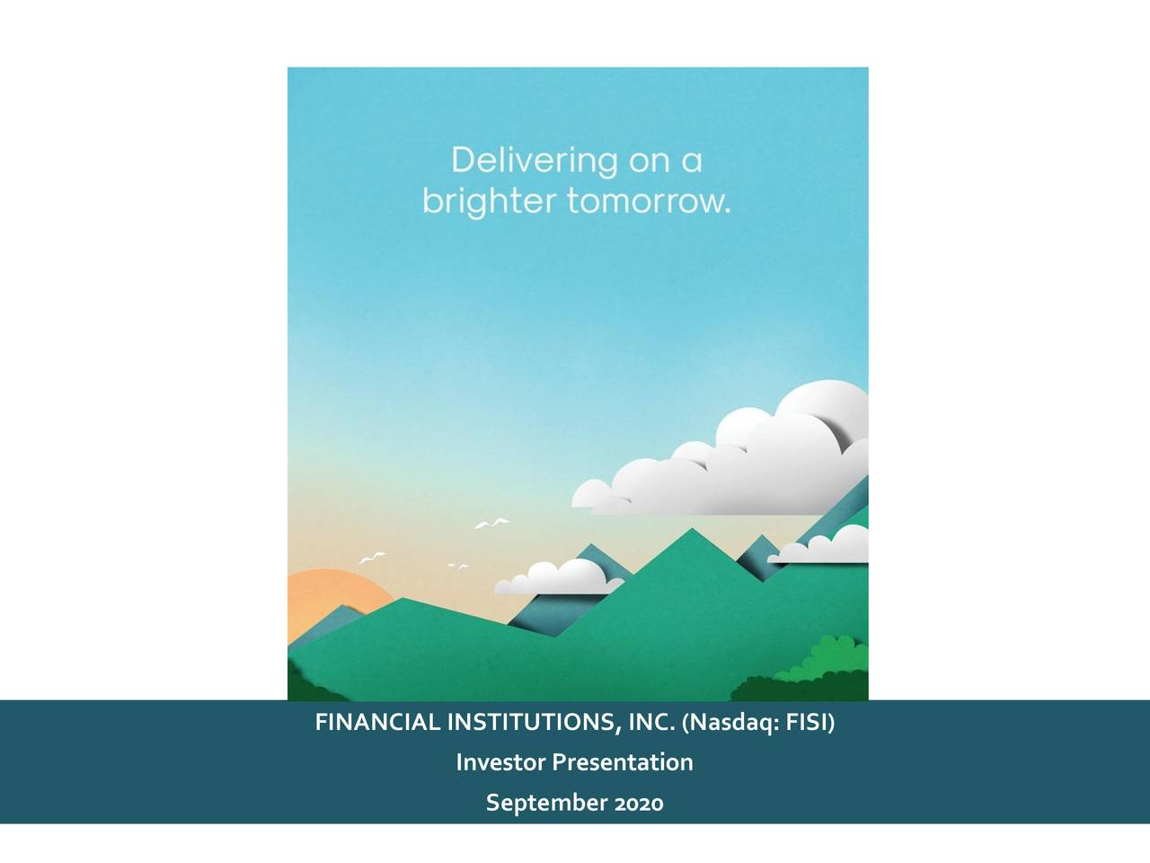 Financial Institutions (FISI) Investor Presentation - Slideshow (NASDAQ:FISI)
