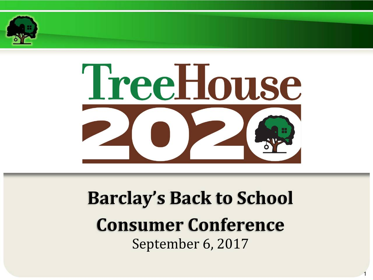 treehouse foods ths presents at the barclays global consumer