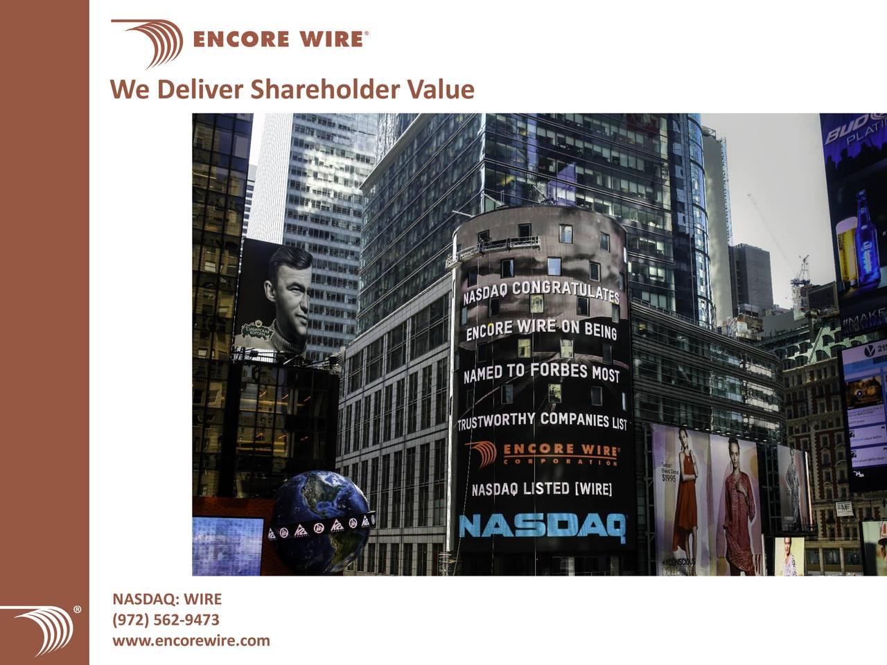 WIRE / Encore Wire Corp. - Short Interest - Fintel.io