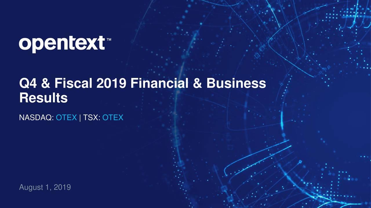 Q4 & Fiscal 2019 Financial & Business