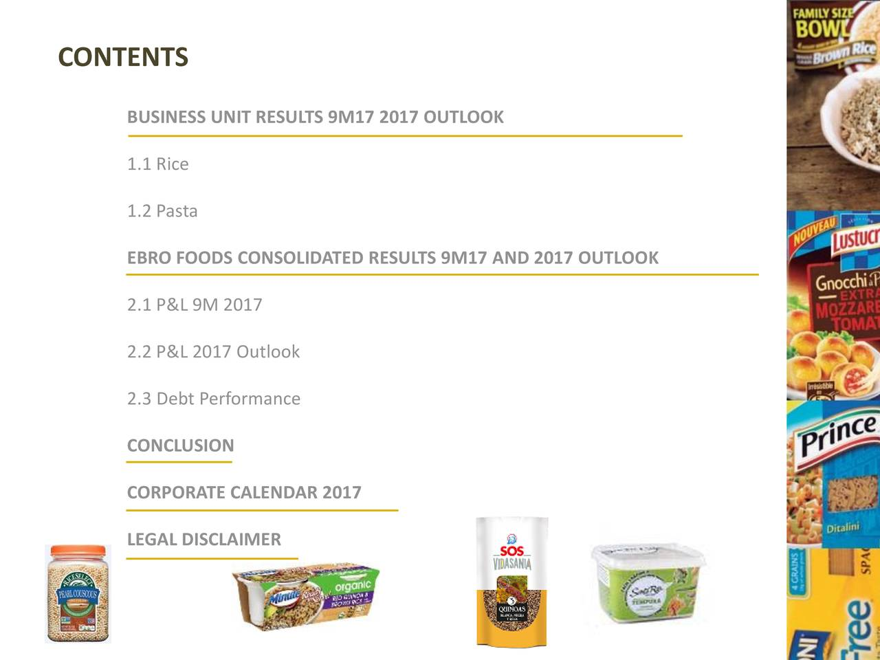 Cp 1 2 consolidated foods data