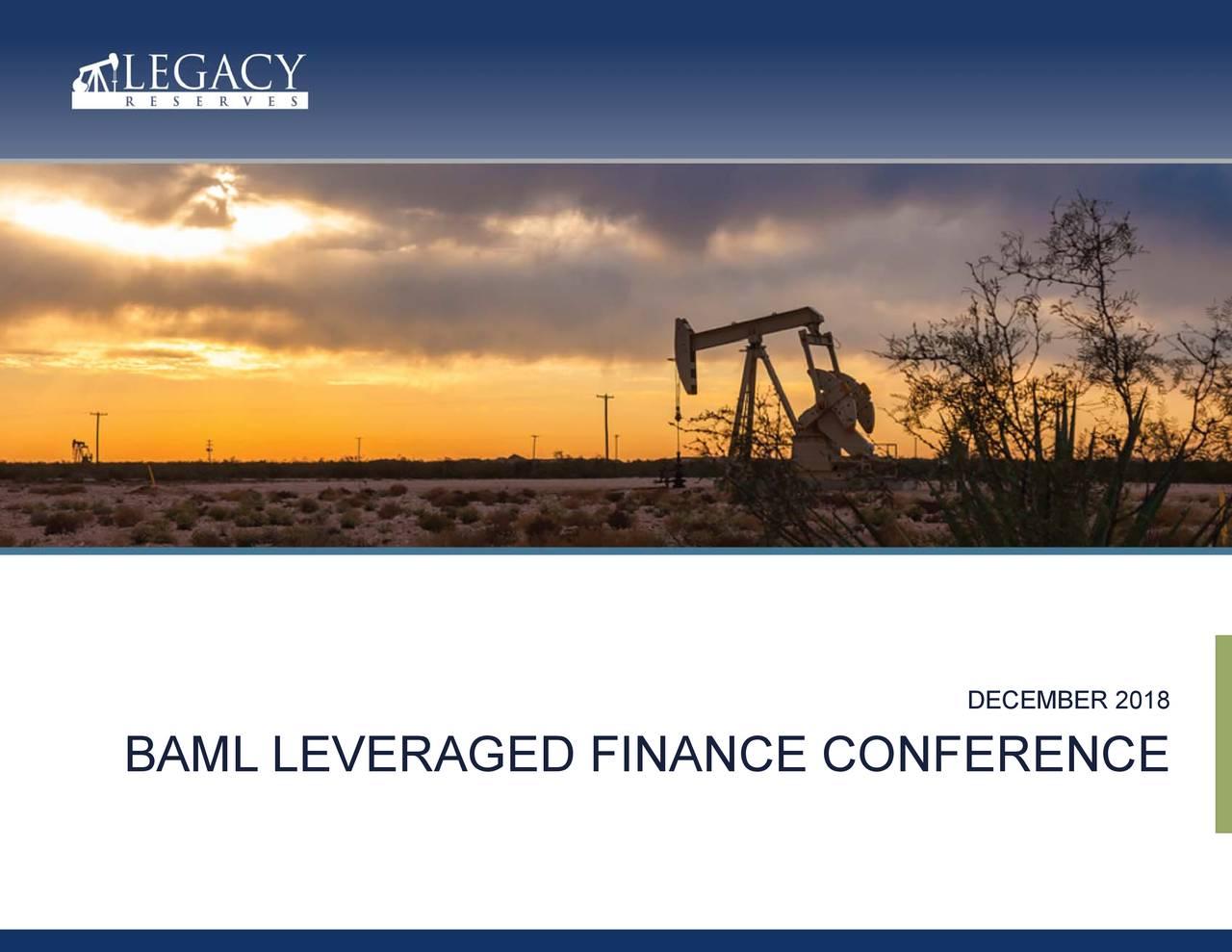 BAML LEVERAGED FINANCE CONFERENCE