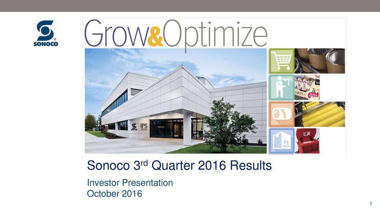 Investor Presentation October 2016 1