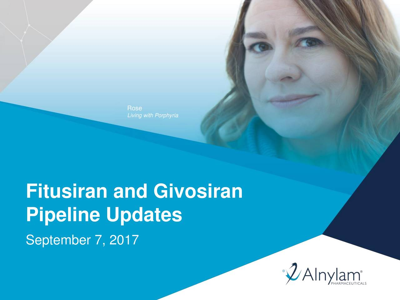 Living with Porphyria Fitusiran and Givosiran Pipeline Updates September 7, 2017