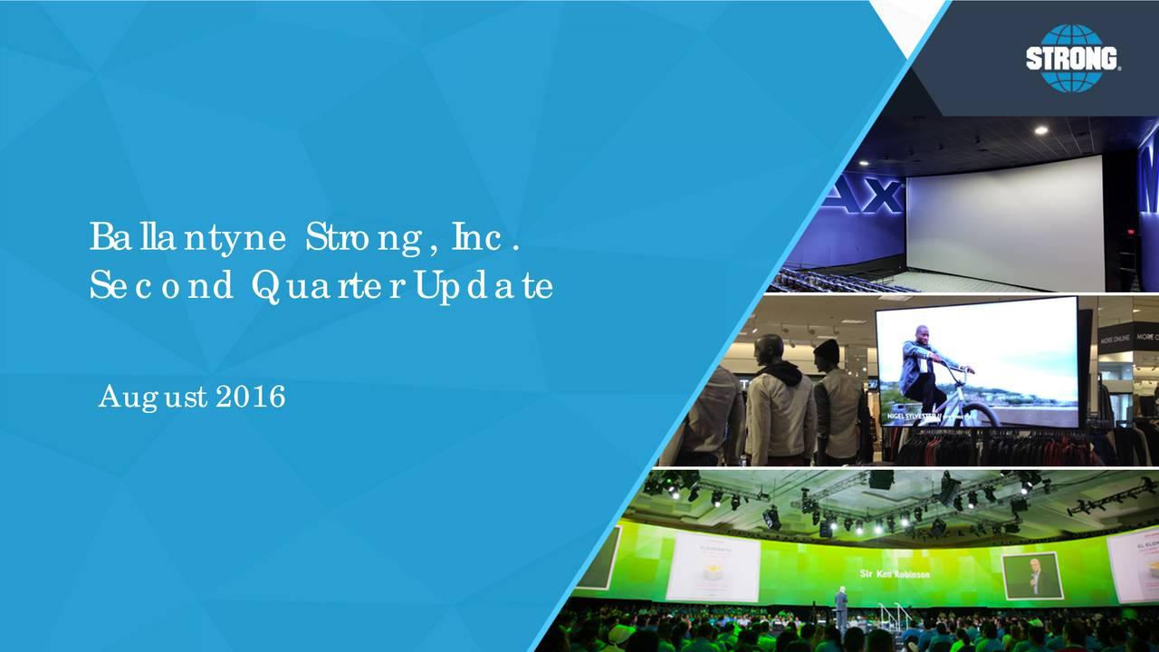 Second Quarter Update August 2016