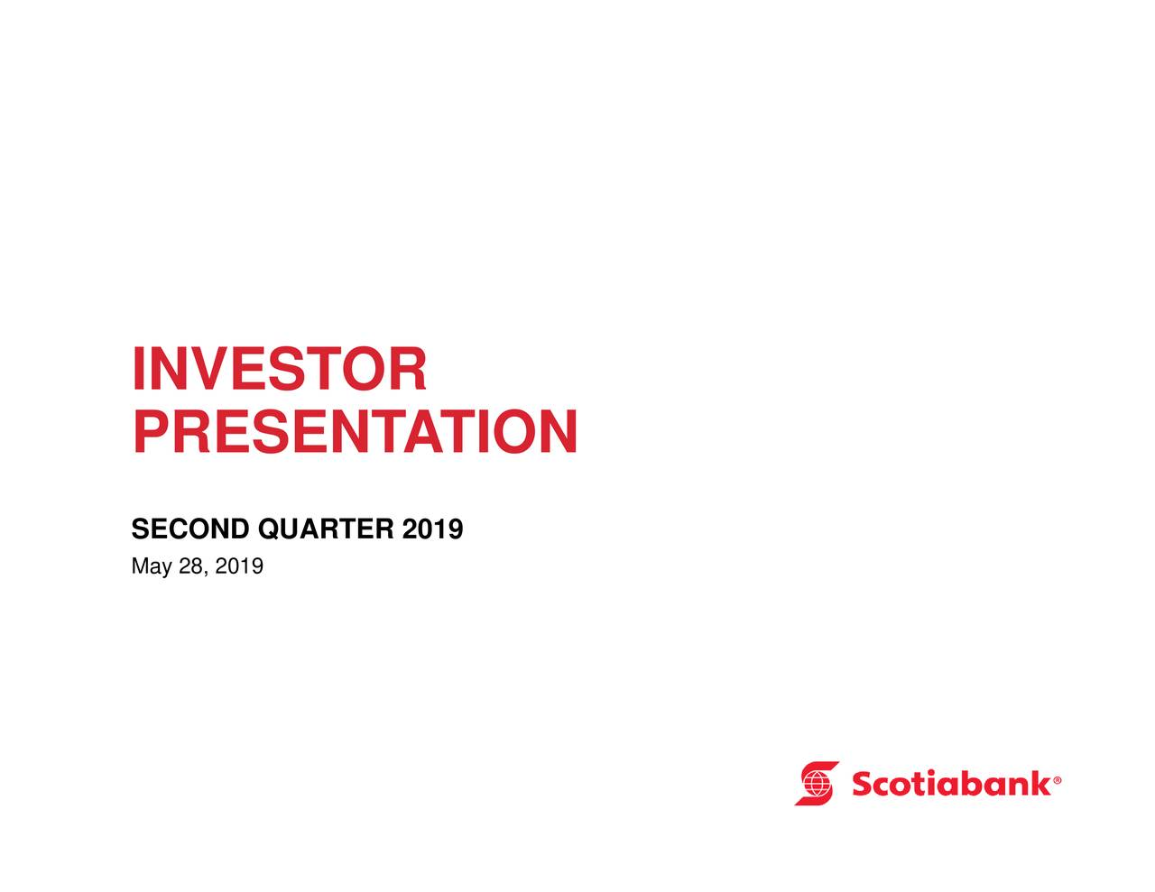 The Bank of Nova Scotia 2019 Q2 - Results - Earnings Call Slides