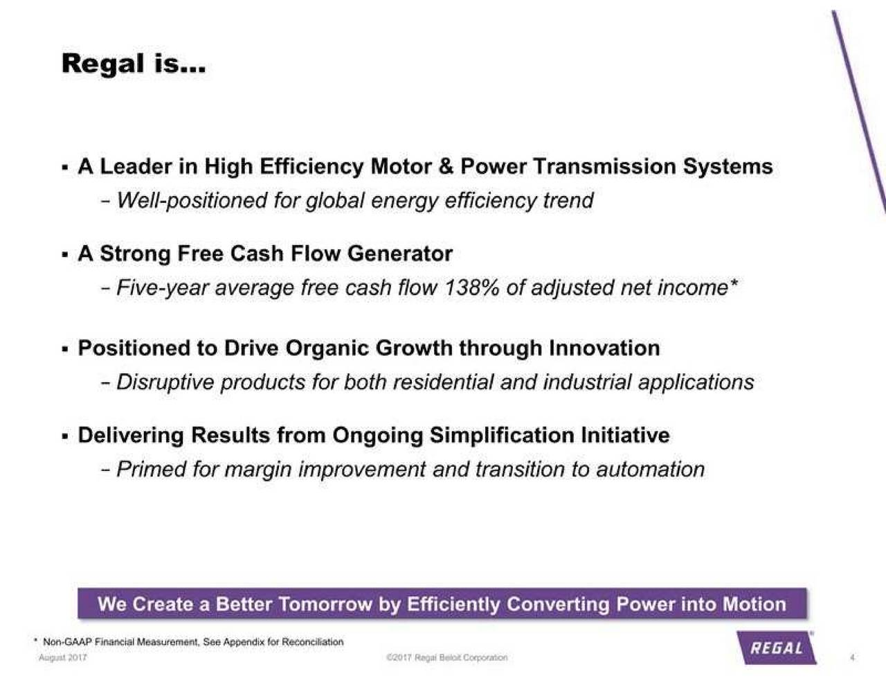 Regal Beloit Rbc Presents At Jefferies 13th Annual Industrials Wiring Diagrams Conference Slideshow