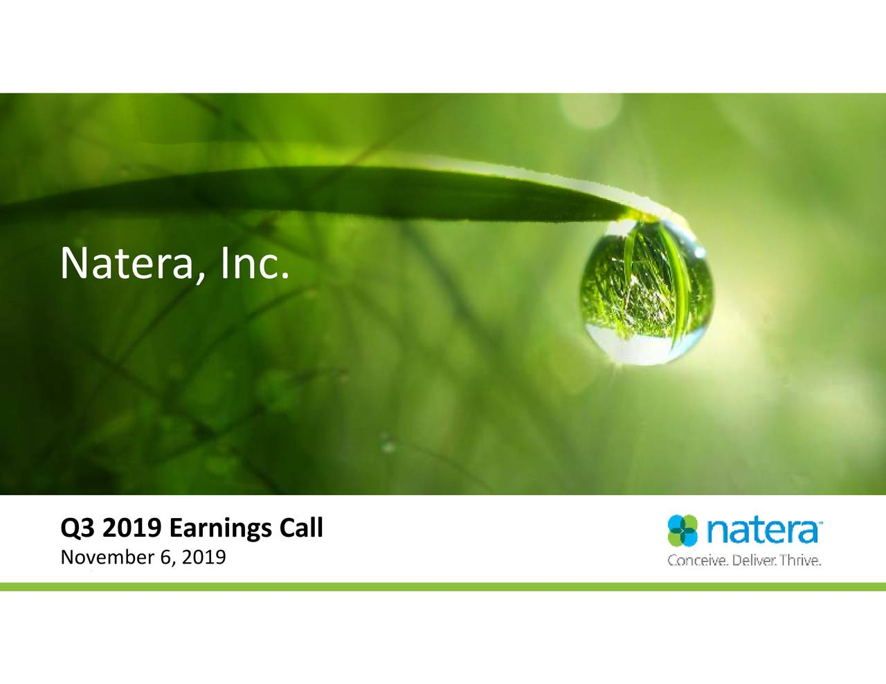 Natera, Inc.          Q3N2vem9bEa6n219gs Call or further distribution.