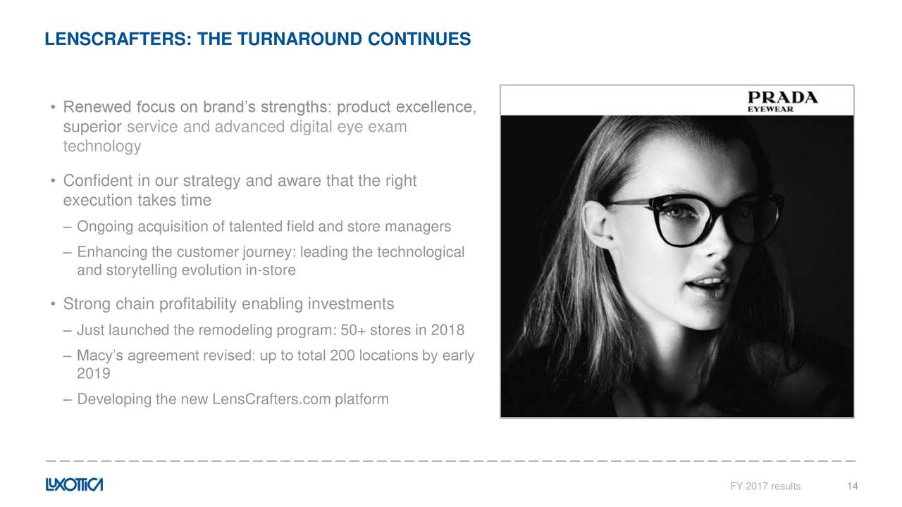 Luxottica group spa adr 2017 q4 results earnings call slides luxottica group spa adr 2017 q4 results earnings call slides luxottica group spa adr otcmktsluxty seeking alpha buycottarizona Gallery