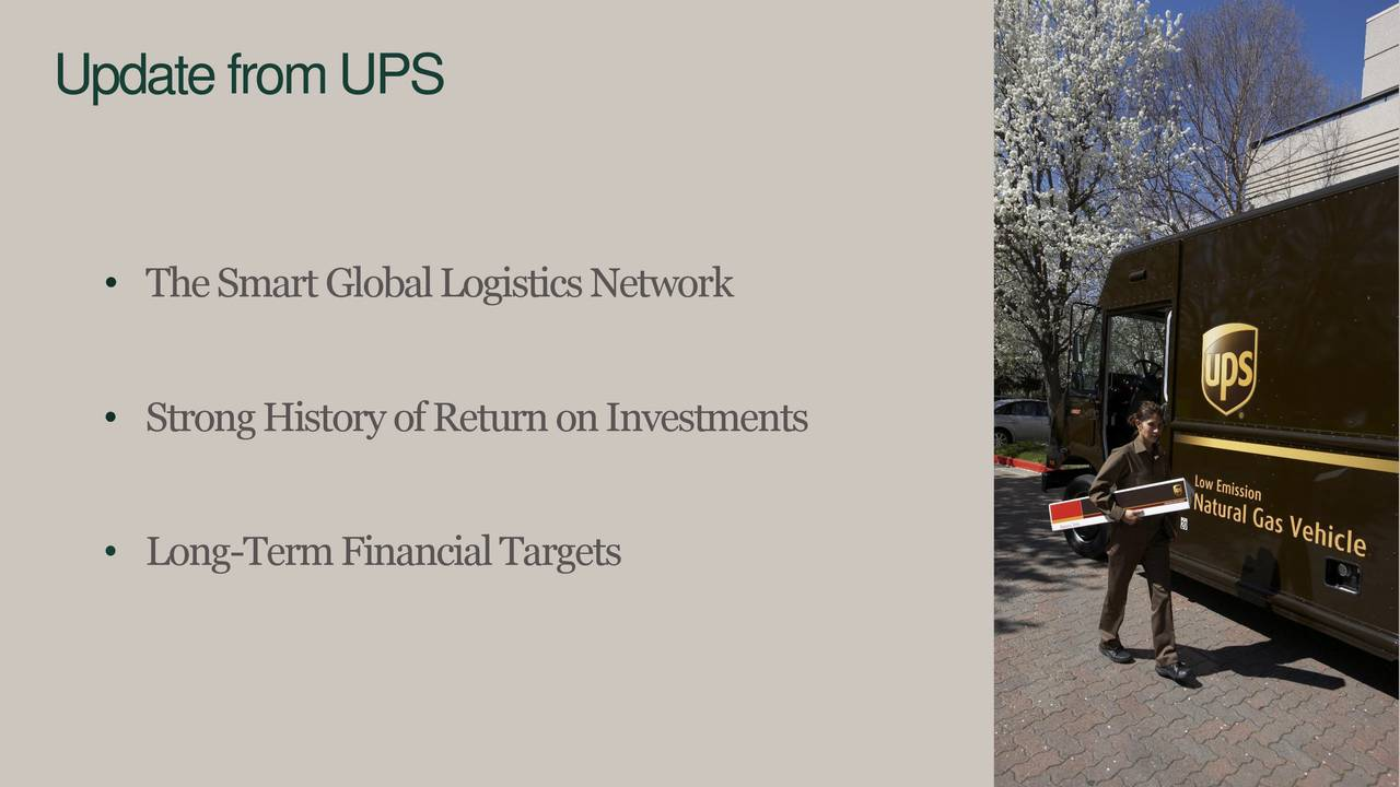 TheSmartGlobalLogisticsNetwork StrongHistoryofReturnonInvestments Long-TermFinancialTargets