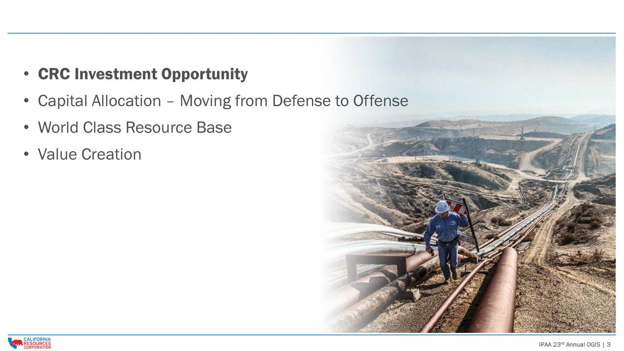 Capital Allocation  Moving from Defense to Offense World Class Resource Base Value Creation