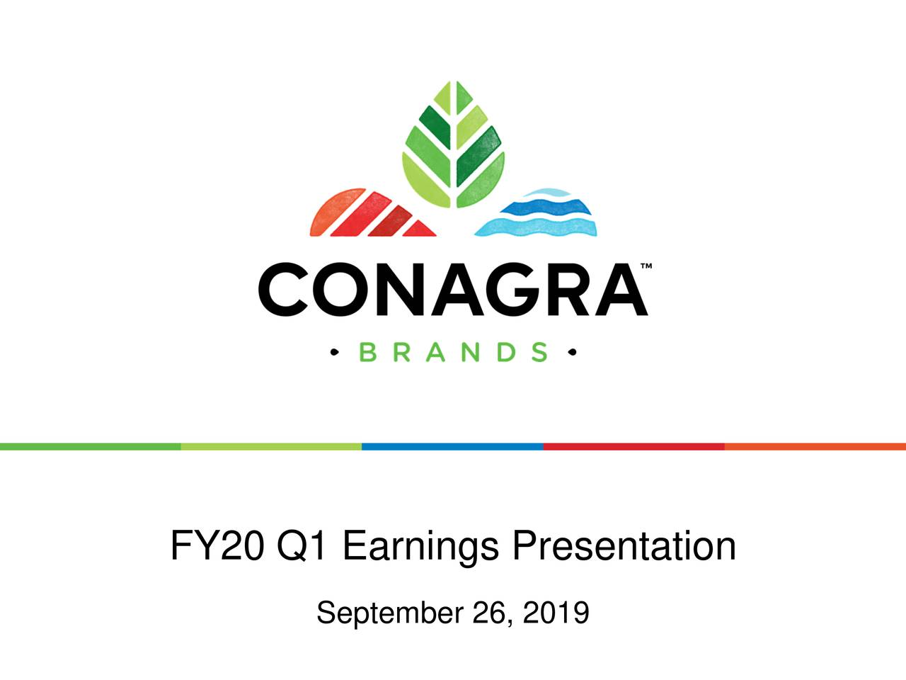 Conagra Brands, Inc. 2020 Q1 - Results - Earnings Call Slides