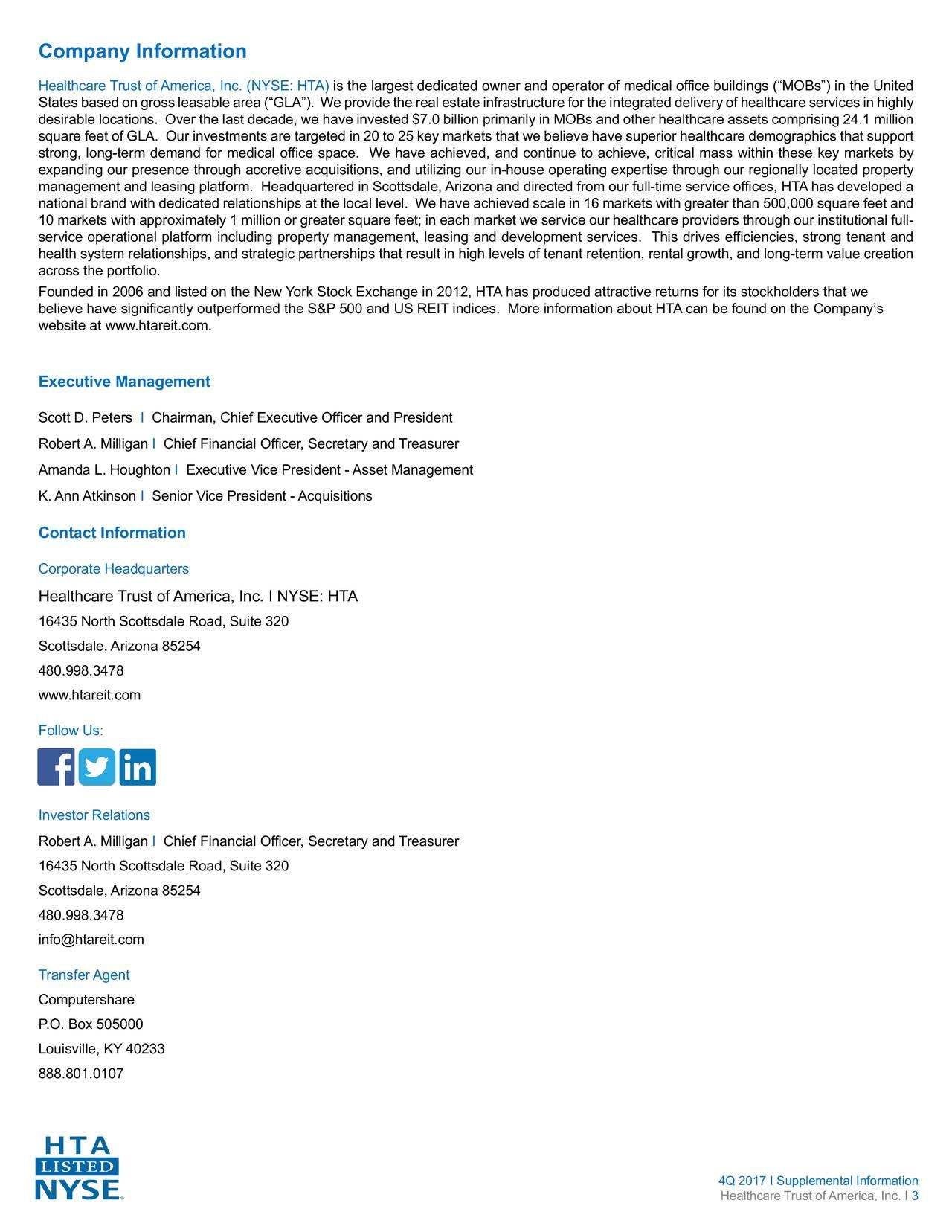 Healthcare trust of america inc 2017 q4 results earnings call slides healthcare trust of - National trust head office address ...