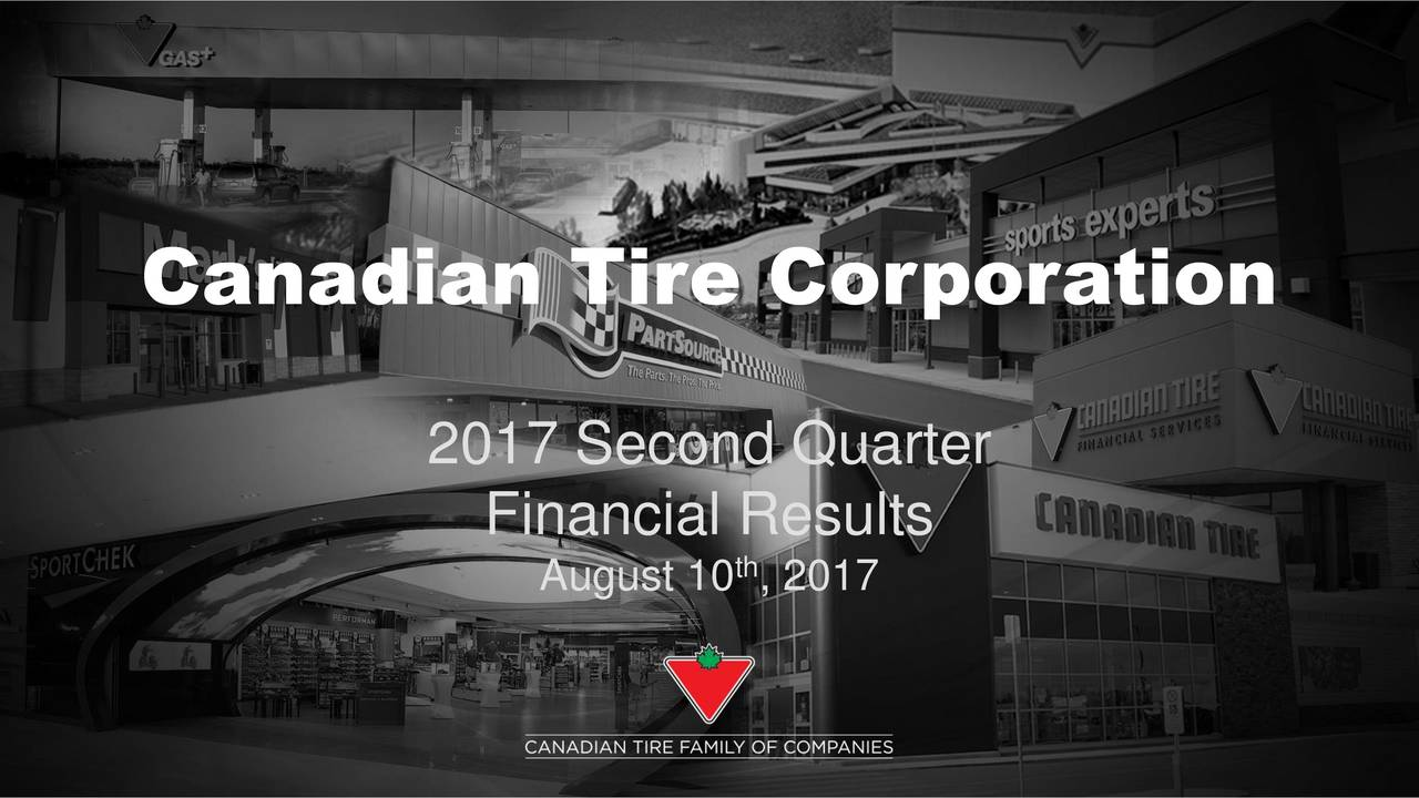2017 Second Quarter Financial Results August 10 , 2017