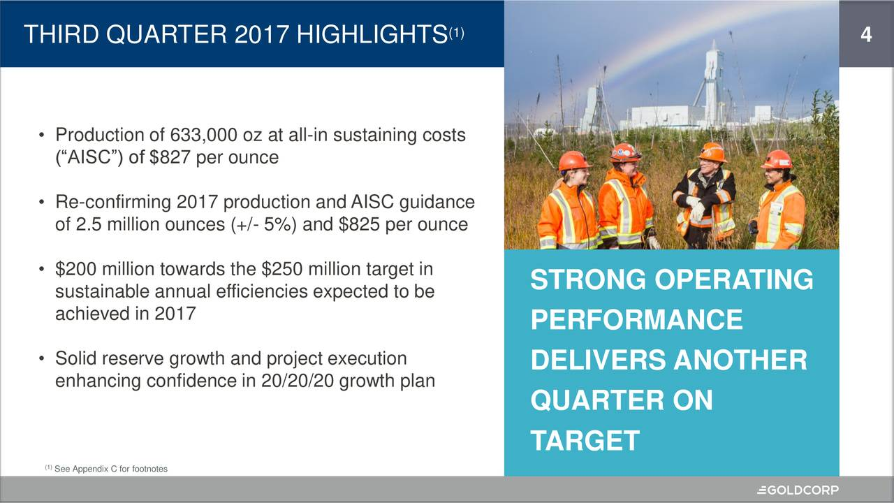 Goldcorp Stock Quote Goldcorp Inc2017 Q3  Results  Earnings Call Slides  Goldcorp