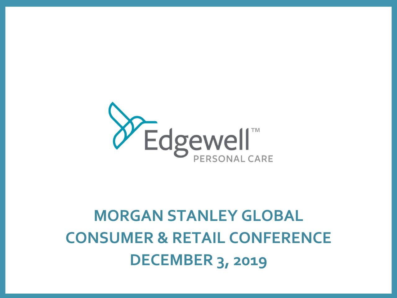 Edgewell Personal Care (EPC) Presents At Morgan Stanley