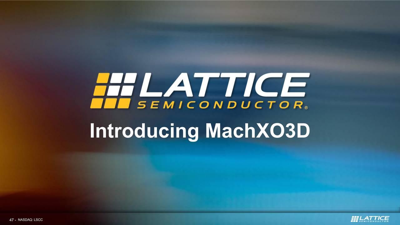 Lattice Semiconductor (LSCC) Investor Presentation