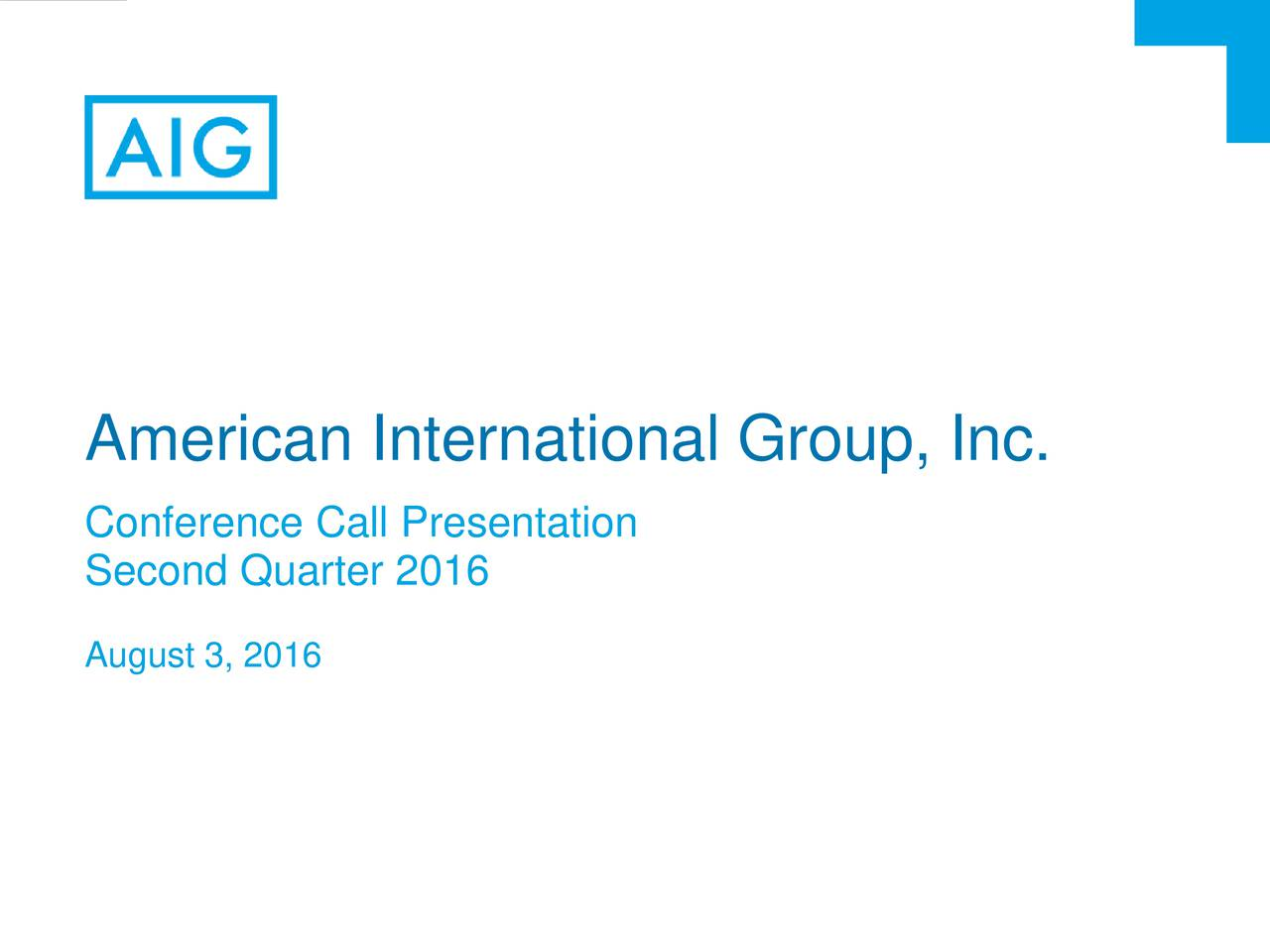 Conference Call Presentation Second Quarter 2016 August 3, 2016