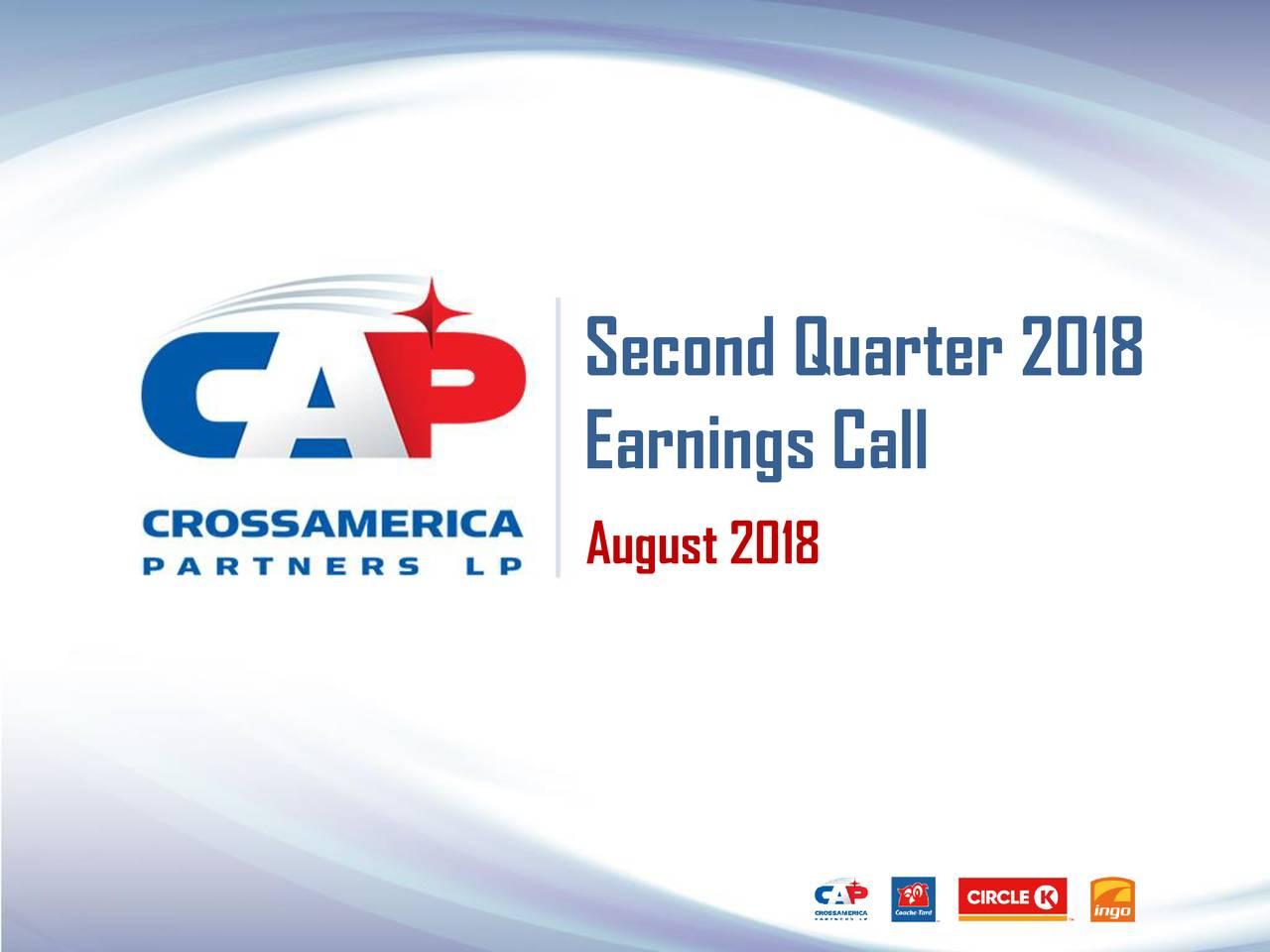 Earnings Call August 2018