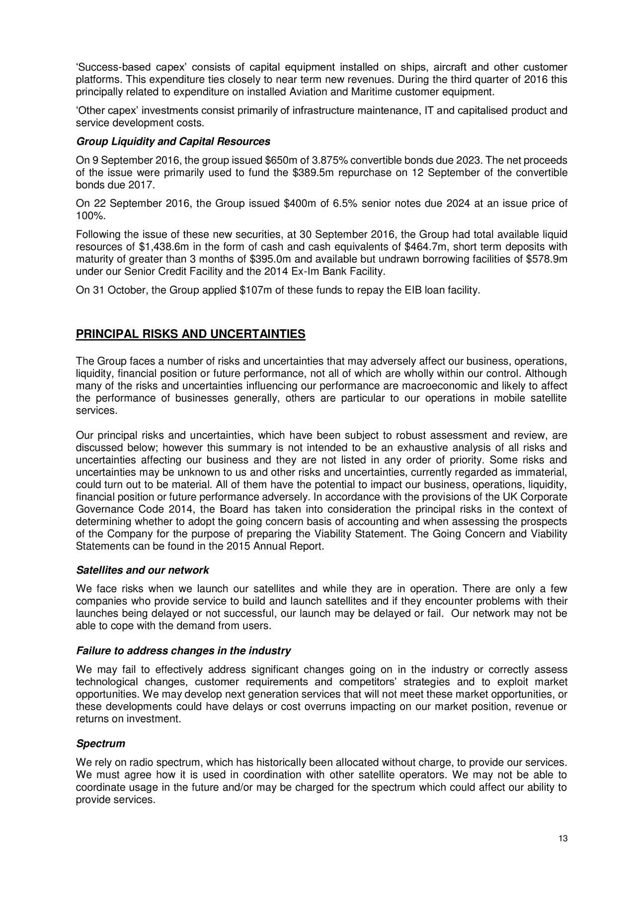 Earnings Disclaimer >> Inmarsat Plc. 2016 Q3 - Results - Earnings Call Slides ...