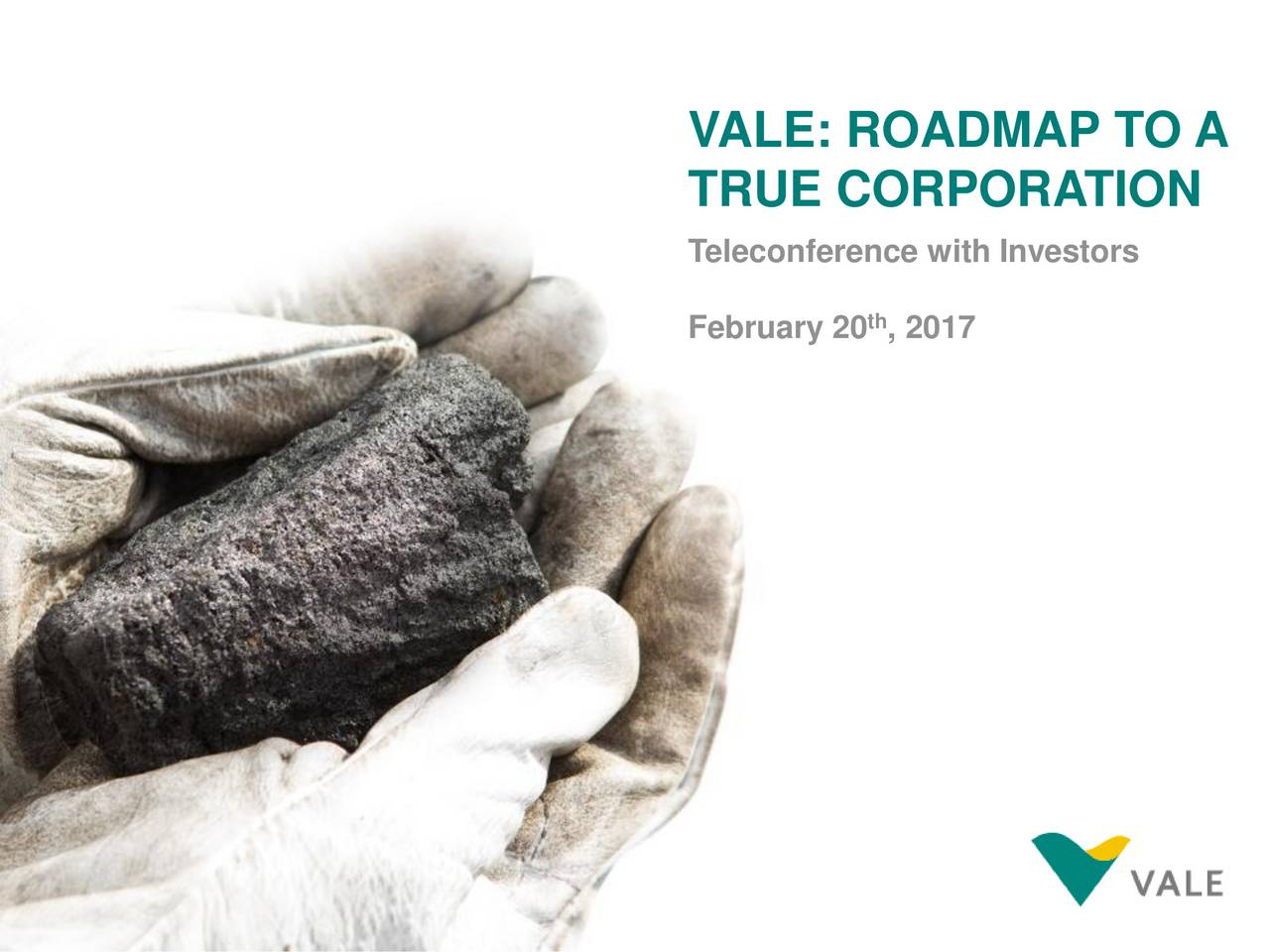 TRUE CORPORATION Teleconference with Investors February 20 , 2017