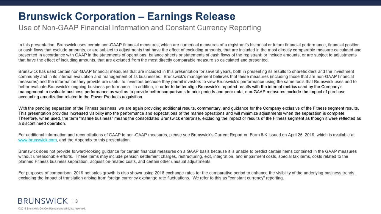 Brunswick Corporation – Earnings Release