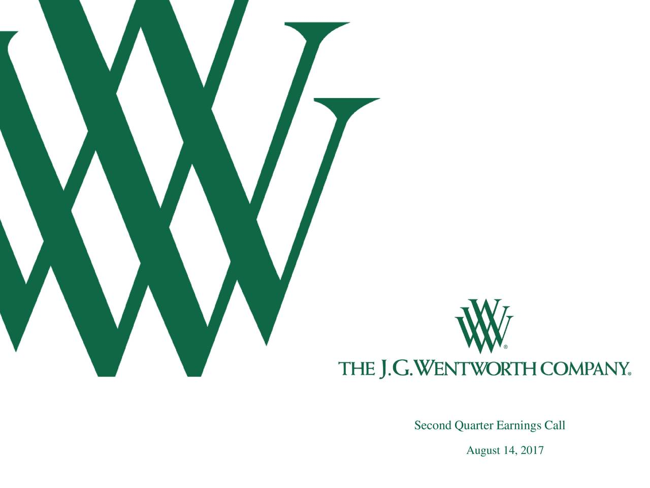 Earnings Call Slides: The J.G. Wentworth CompanyA 2017 Q2