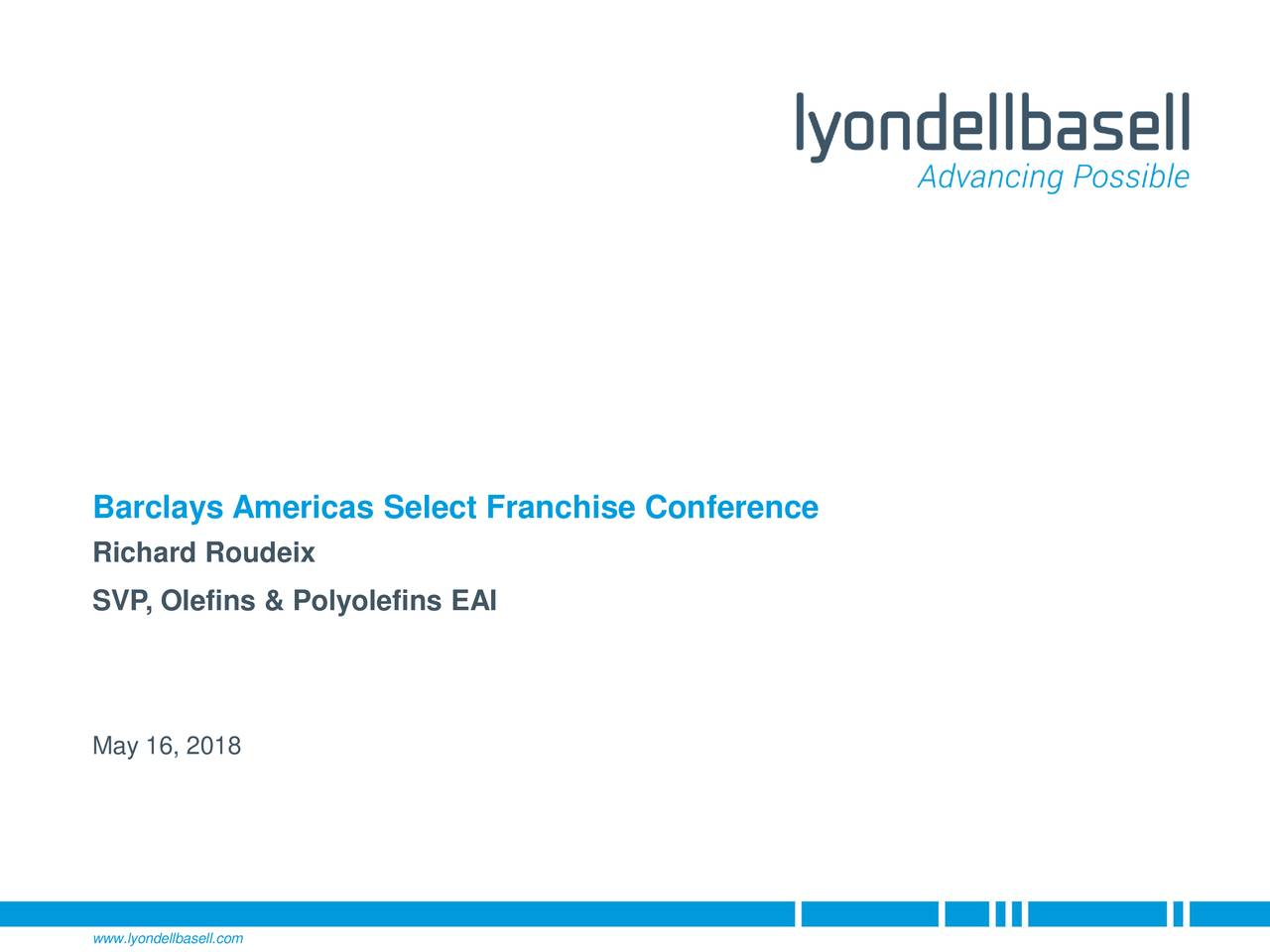 LyondellBasell Industries (LYB) Presents At Barclays