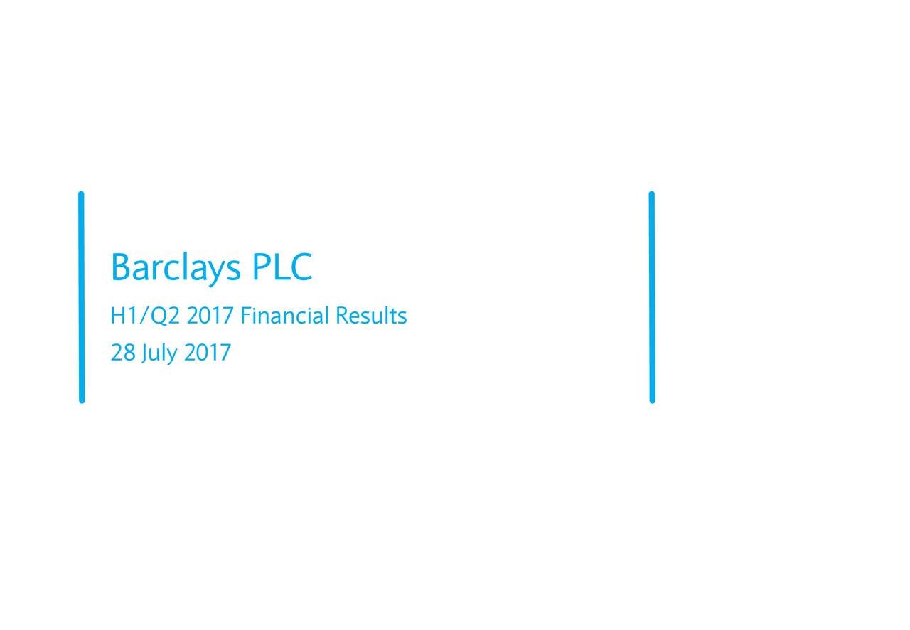 H1/Q2 2017 Financial Results 28 July 2017