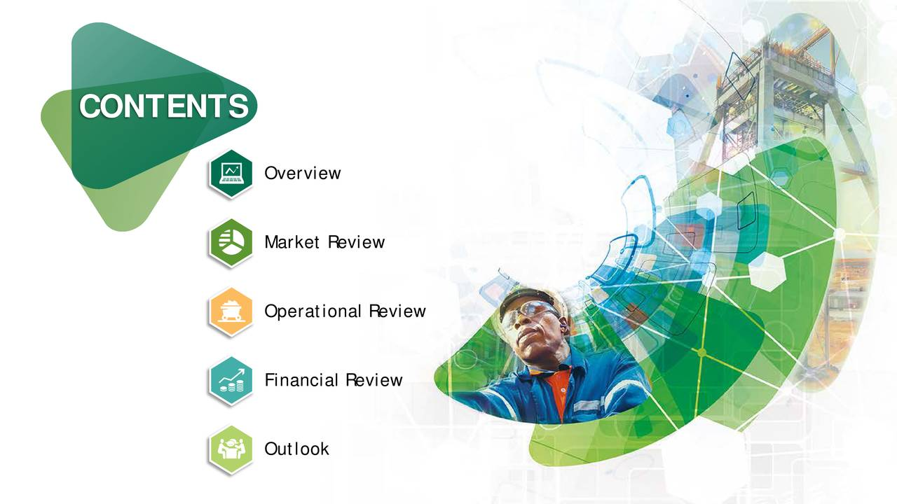 Overview Market Review Operational Review Financial Review Outlook