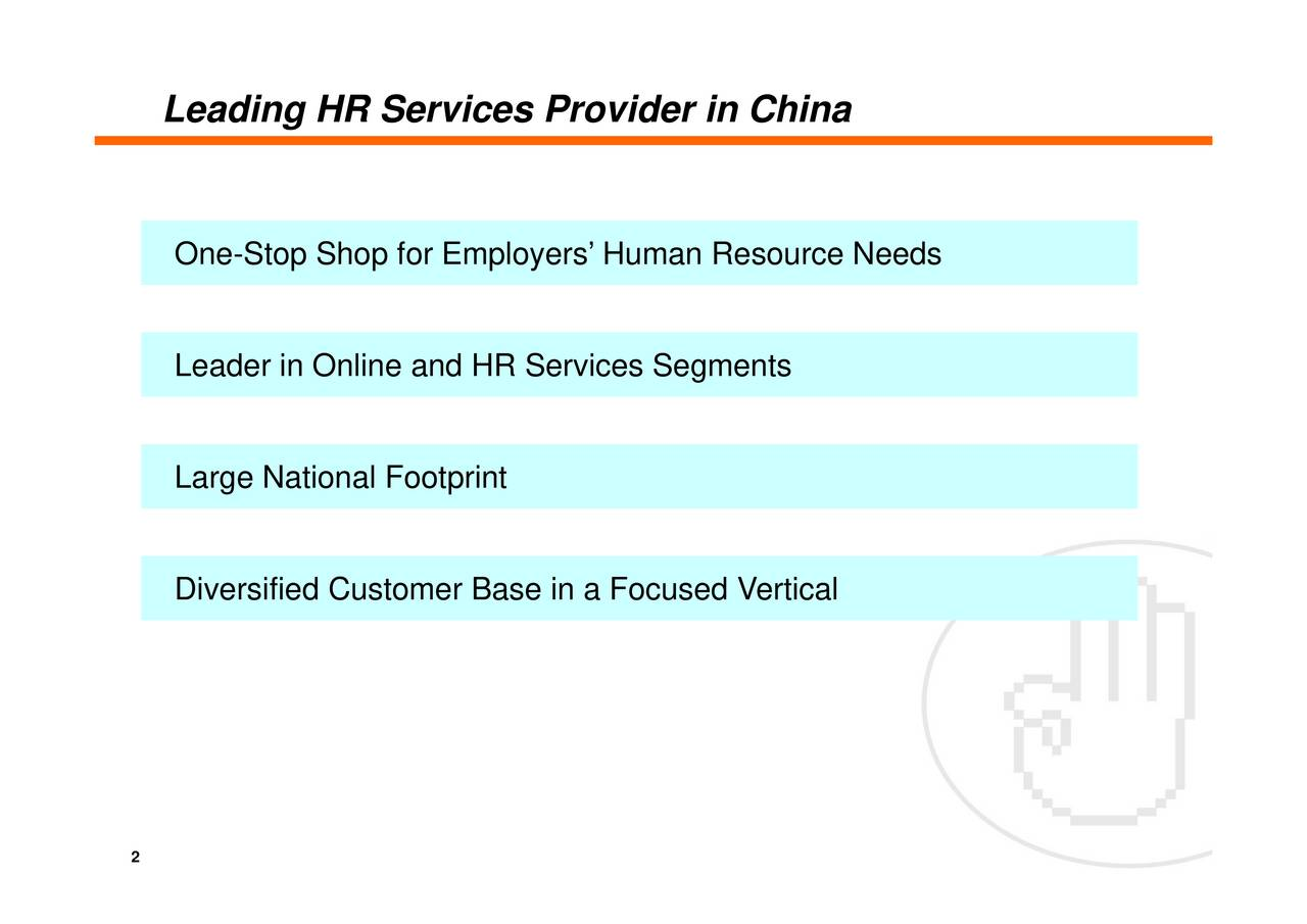 Leading HR Services Provider in China 2