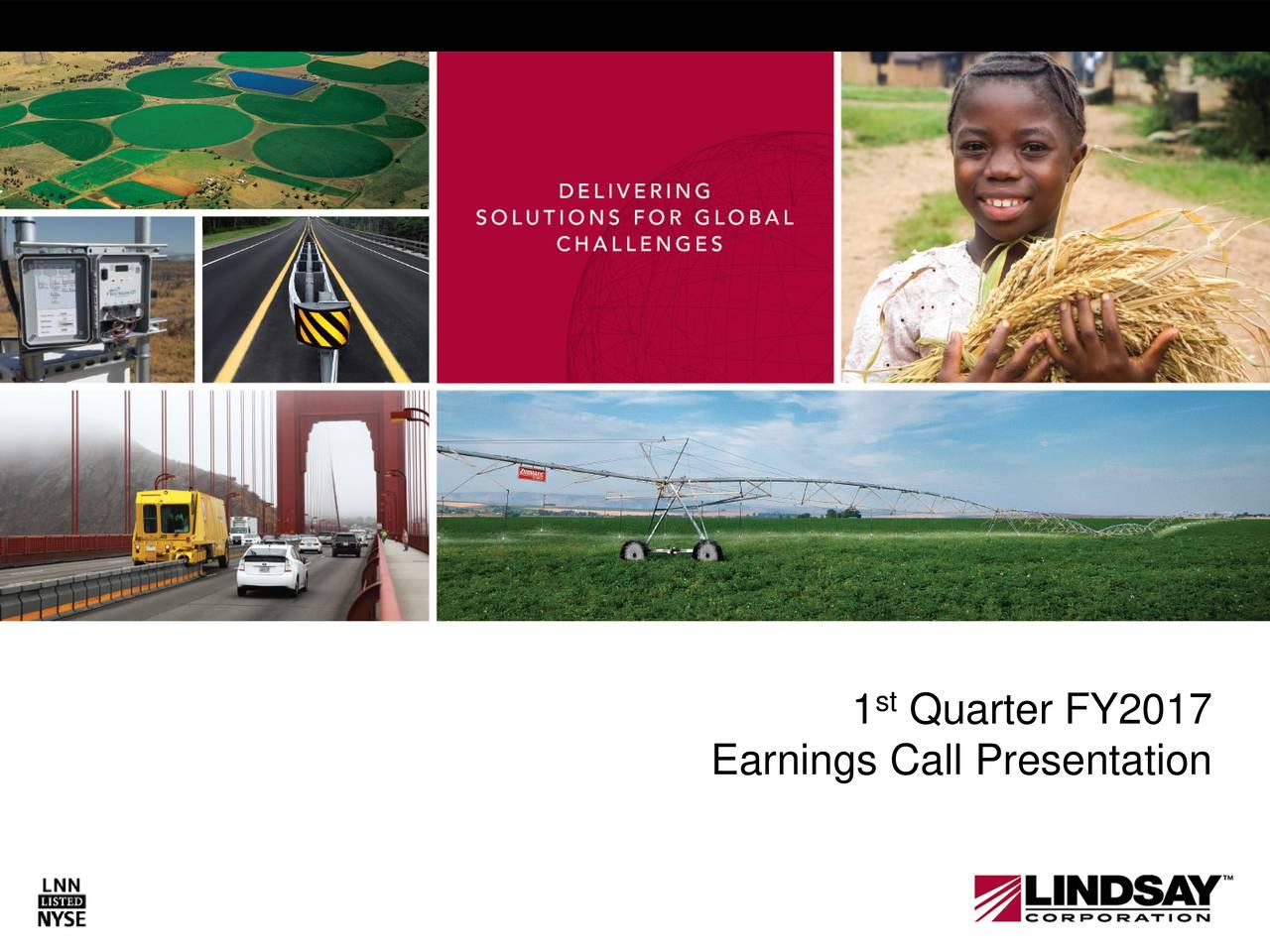 Earnings Call Presentation 1 Quarter FY2017 Earnings Call Presentati1n