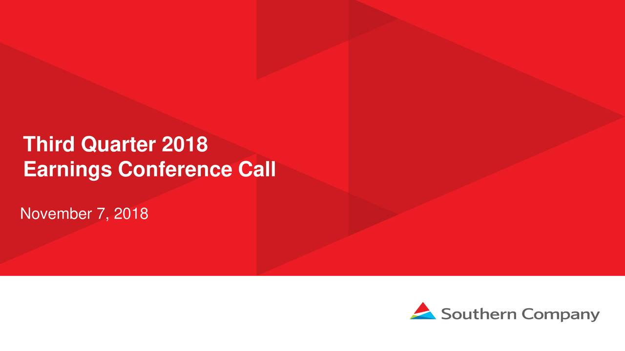 Earnings Conference Call November 7, 2018