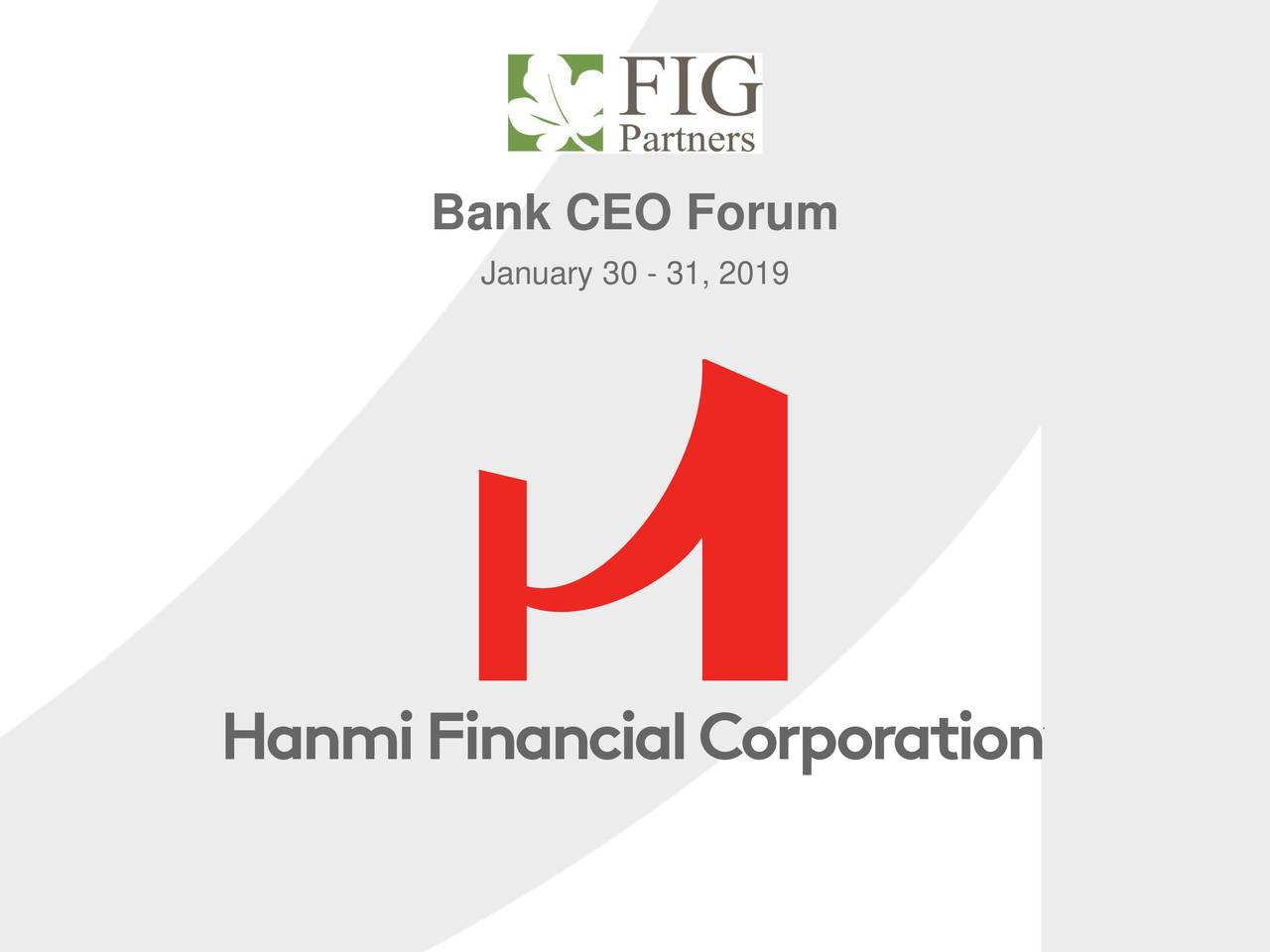 Hanmi Financial (HAFC) Presents At 23rd FIG Partners Bank