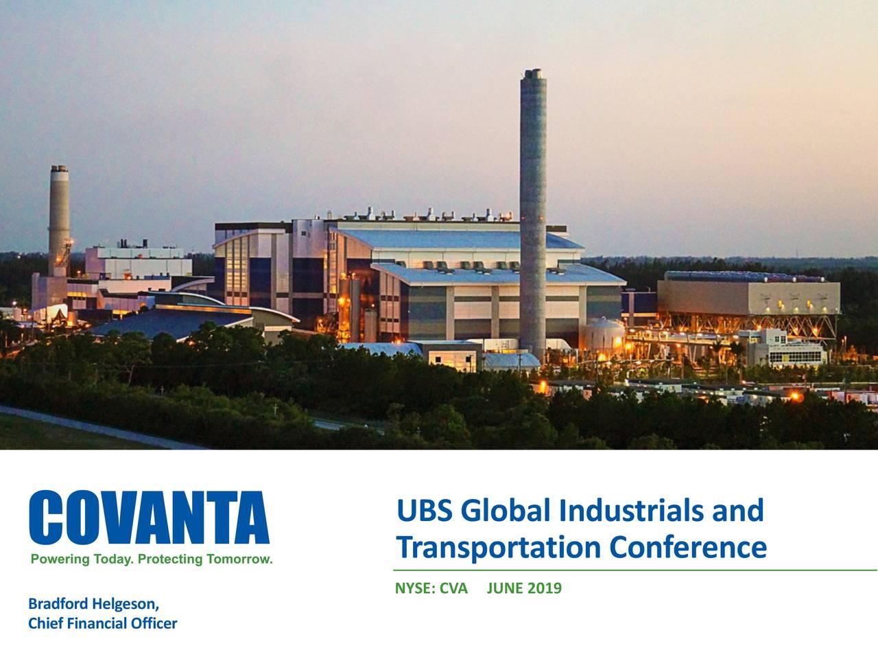 Covanta Holding (CVA) Presents At UBS Global Industrials and Transportation Conference - Slideshow