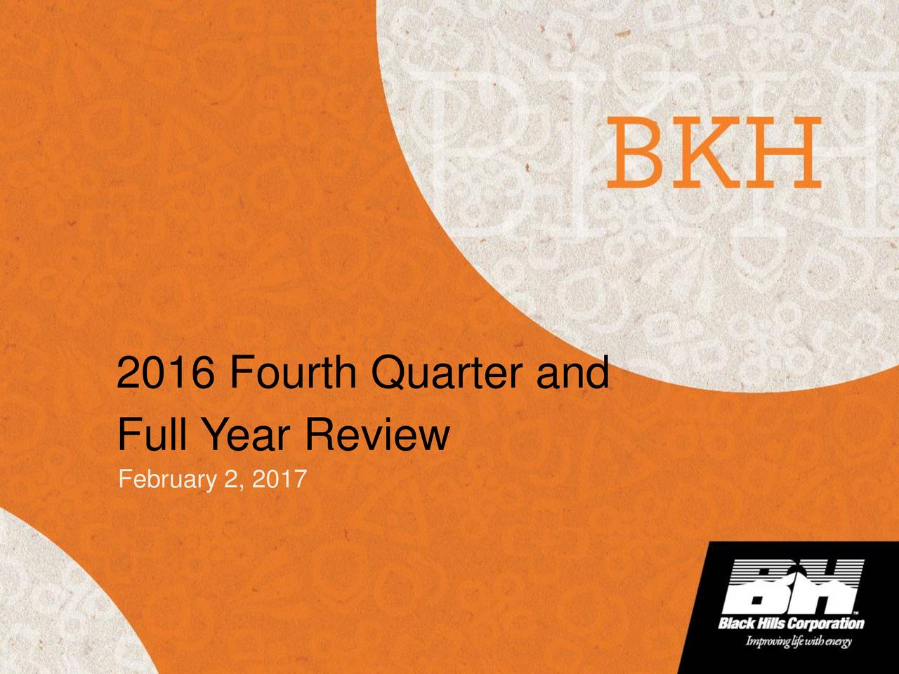 Full Year Review February 2, 2017