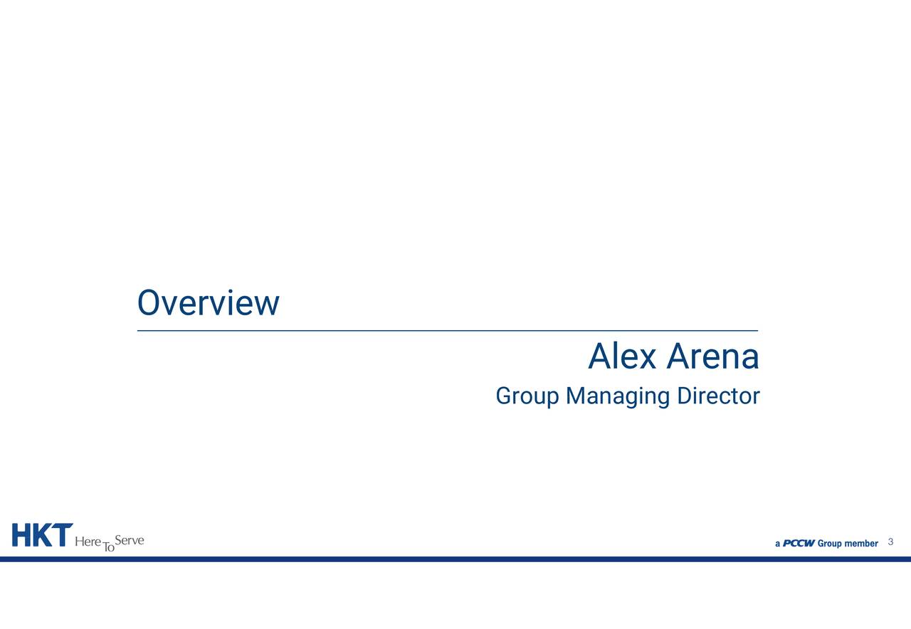 Alex Arena Group Managing Director Overview